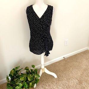 WHBM silk sleeveless blouse